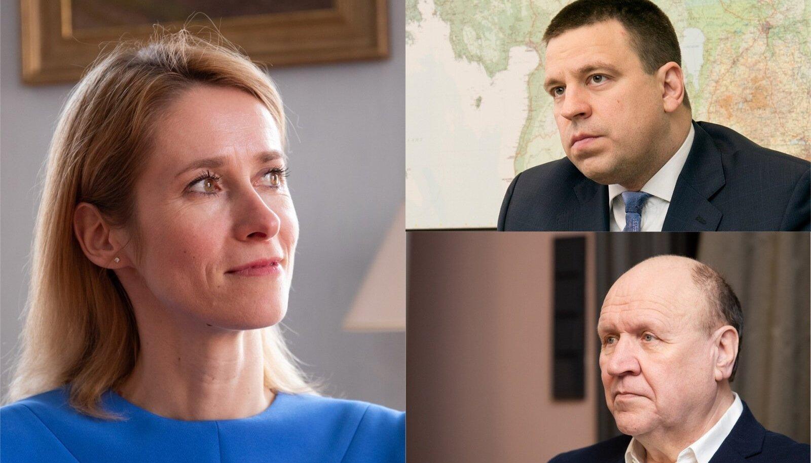 Kaja Kallas, Jüri Ratas ja Mart Helme