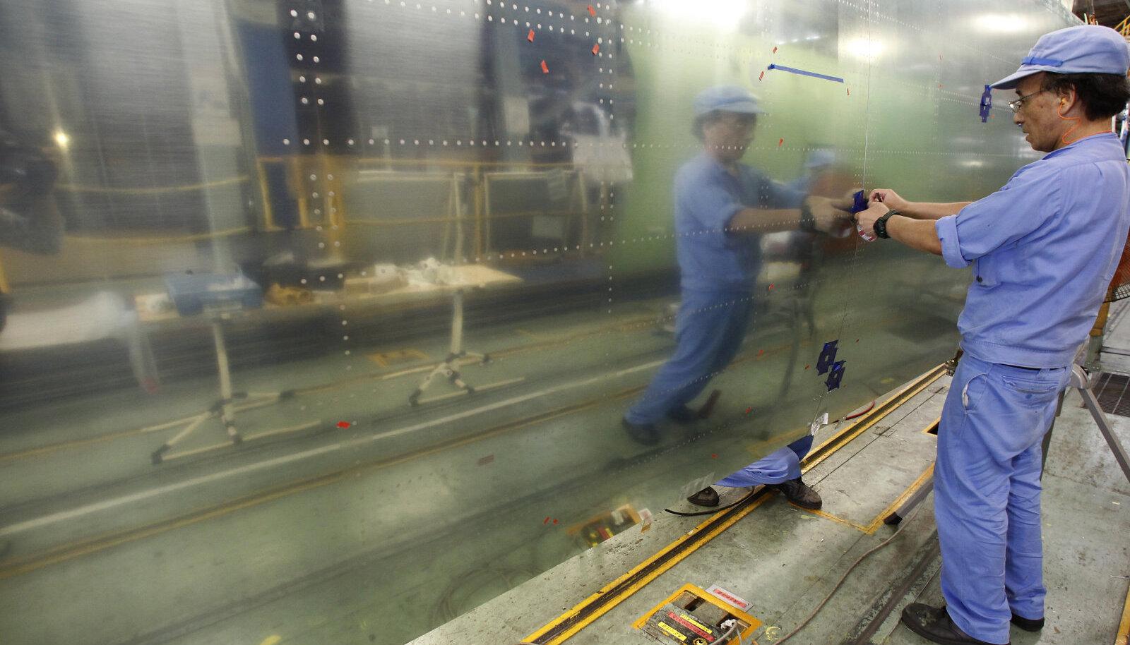 Töö Mitsubishi Aircrafti tehases, kus on valmistatud ka Boeing 767 koostisosi