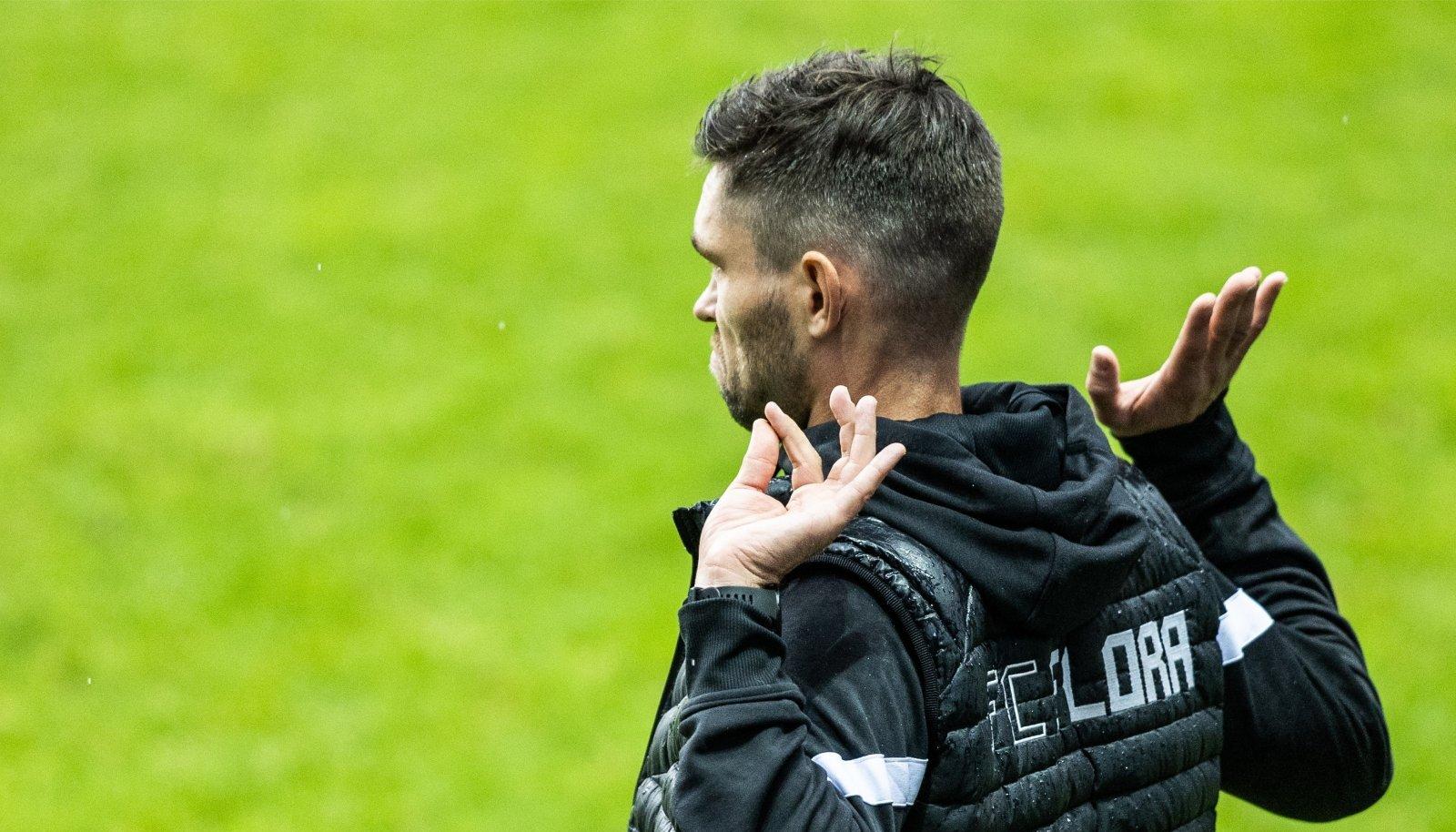 FC Flora peatreener Jürgen Henn jäi hoolealuste esitusega rahule.