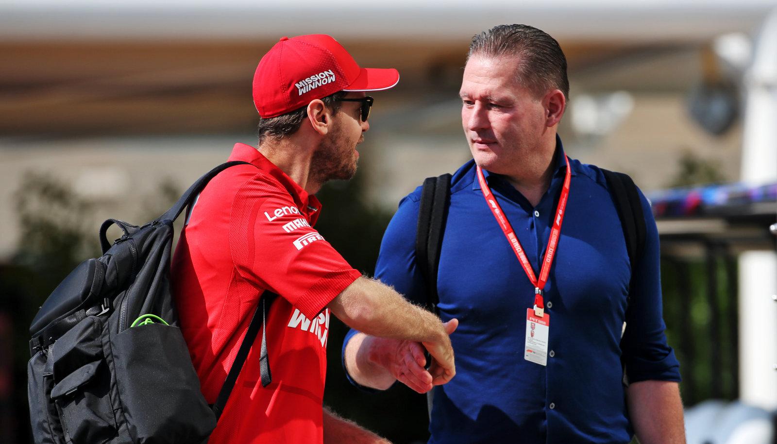 Sebastian Vettel ja Jos Verstappen
