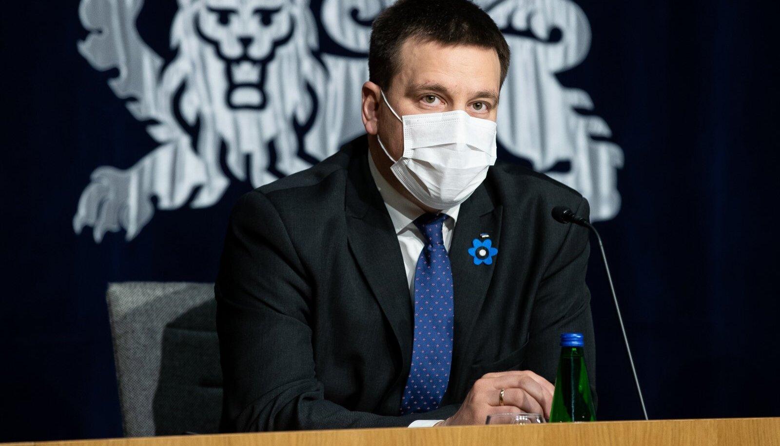Tallinn, 23.04.2020. Valitsuse pressikonverents ühendministeeriumis.