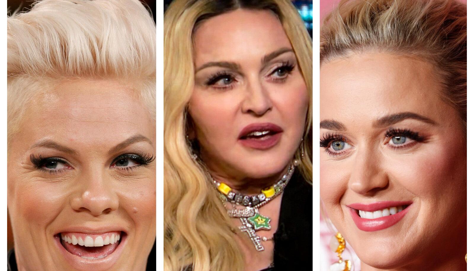 Pink, Madonna ja Katy Perry