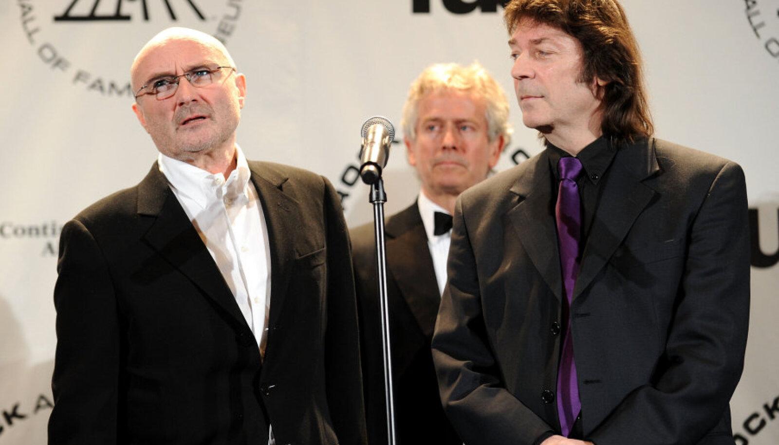 Genesise liikmes vasakult: Phil Collins, Tony Banks ja Steve Hackett
