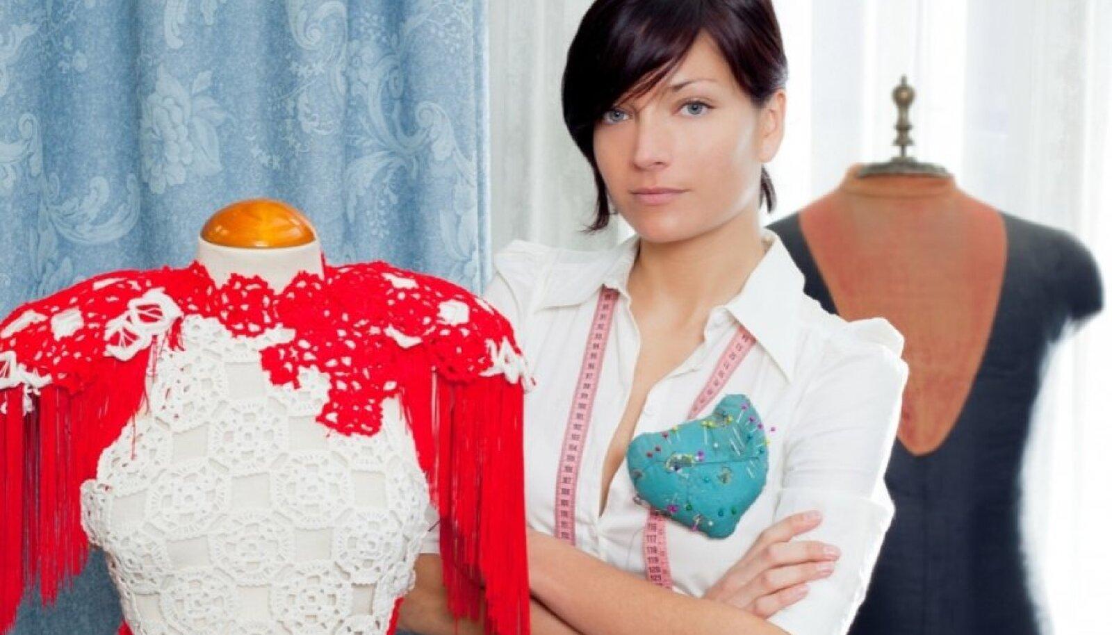 naine hobi hobby õmblemine disain