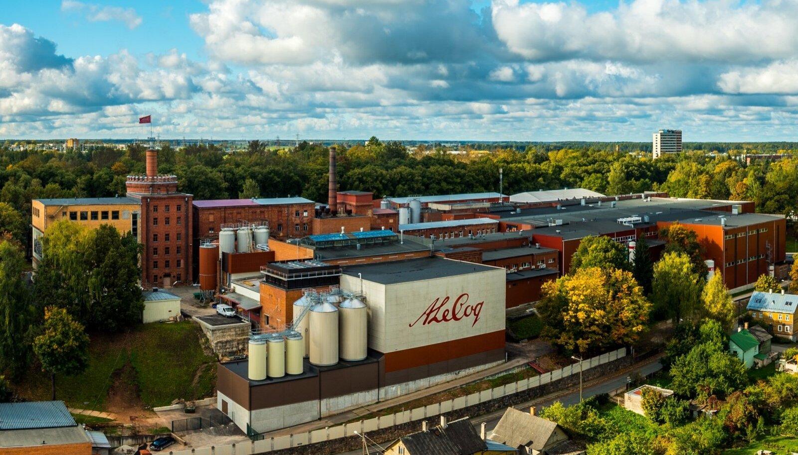 Vaade A. Le Coqi tehasele Supilinna poolt septembris 2015.
