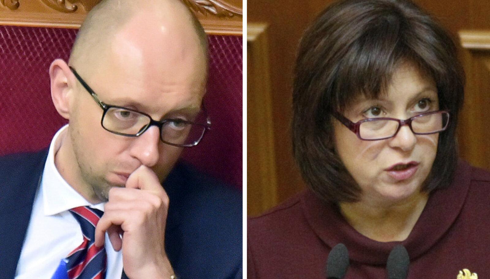 Arseni Jatsenjuk ja Natalia Jaresko