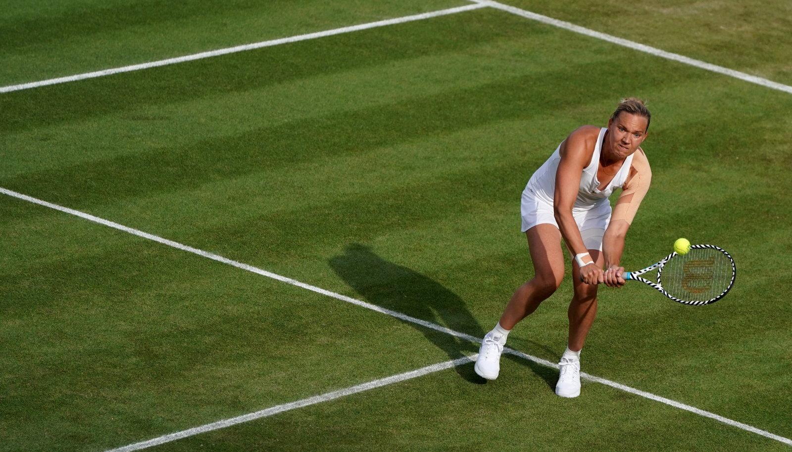 Kaia Kanepi Wimbledonis Belinda Bencici vastu.