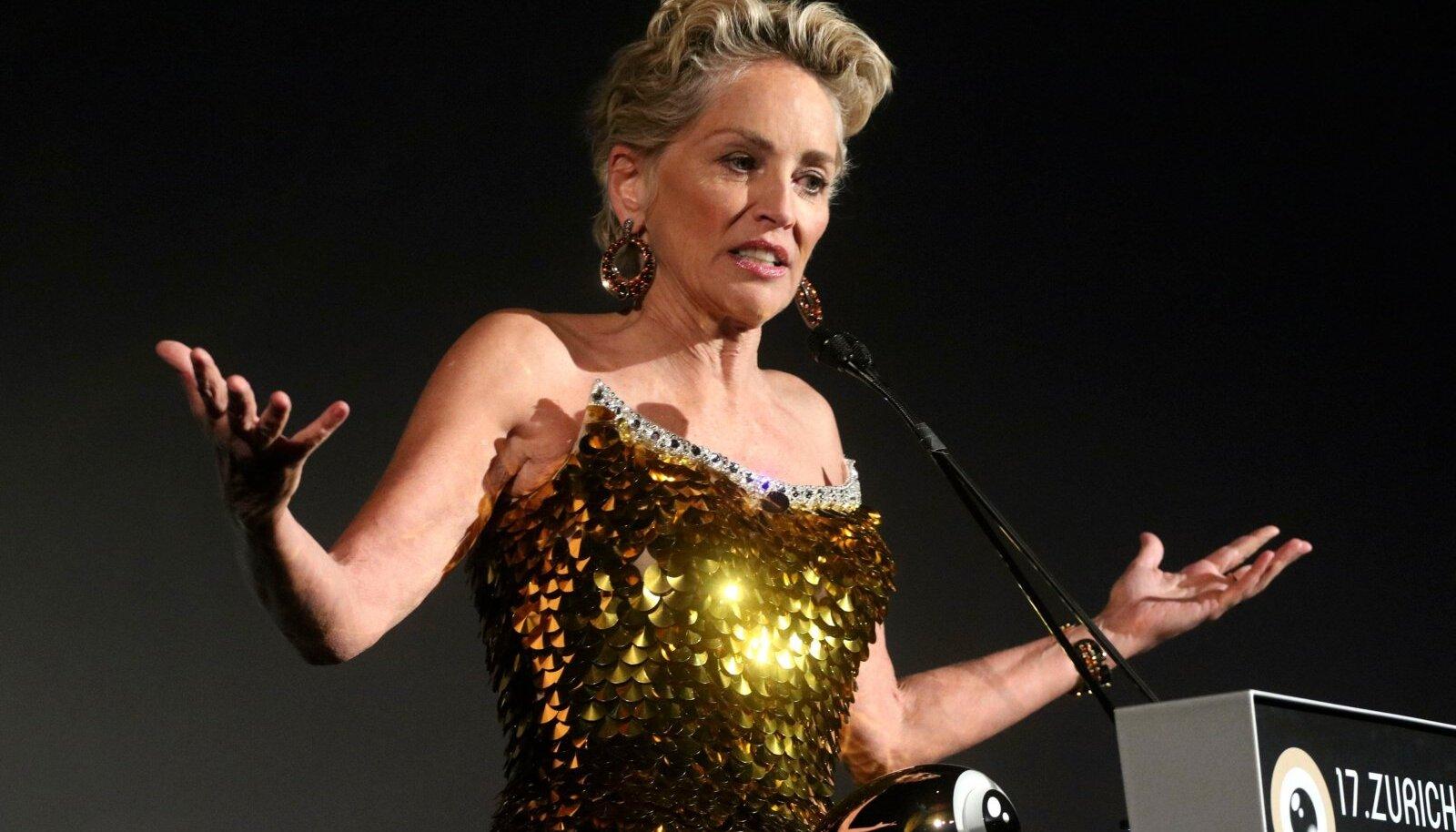 Sharon Stone bei der Verleihung des Golden Eye Awards auf dem 17. Zurich Film Festival 2021 im Kino Corso. Zürich, 25.09