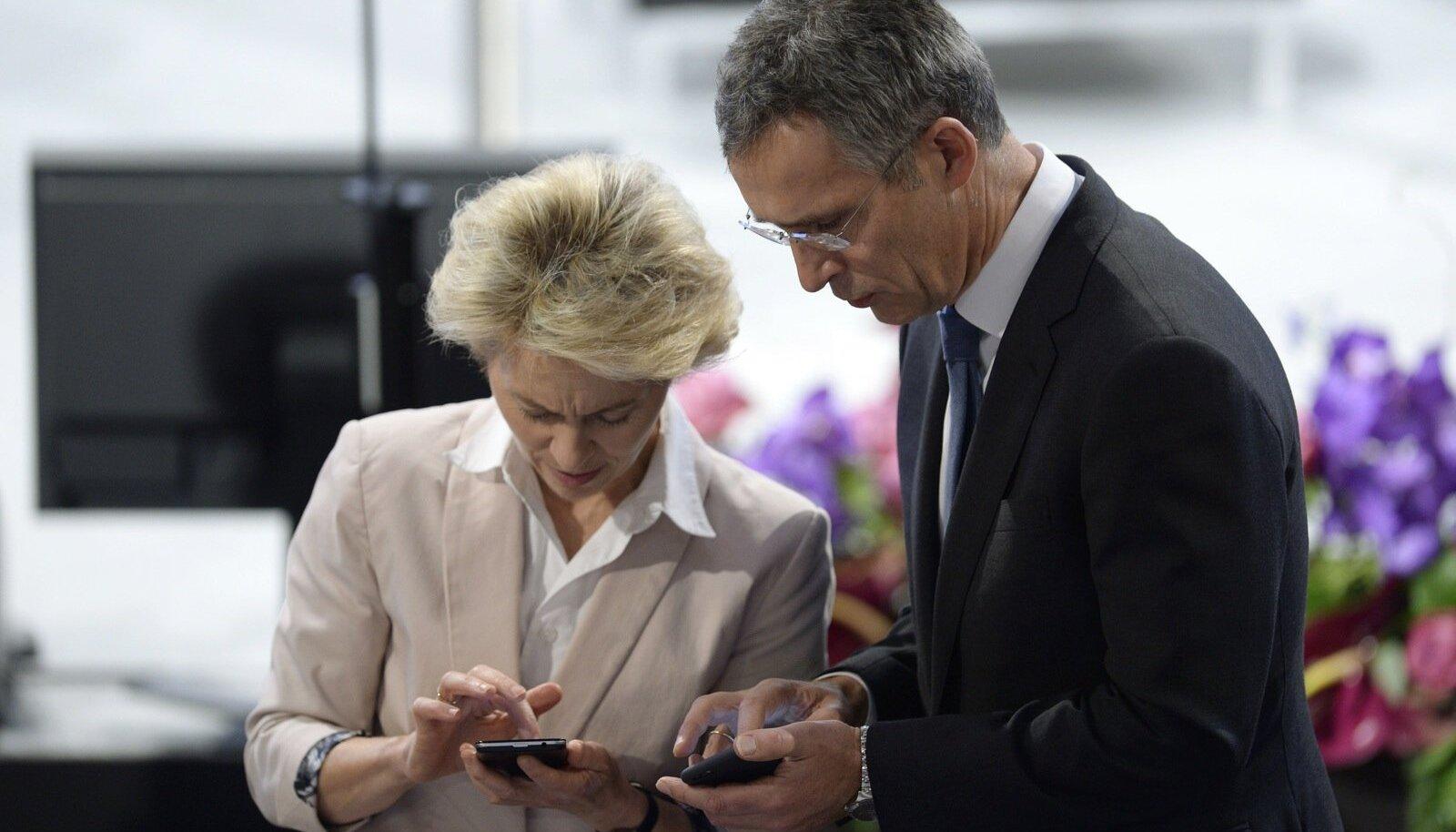 Saksamaa kaitseminister Ursula von der Leyen ja NATO peasekretär Jens Stoltenberg arutavad Tallinnas Euroopa julgeolekupoliitikat.
