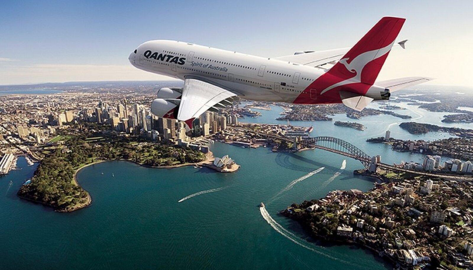 Qantase A380 Sydney kohal.