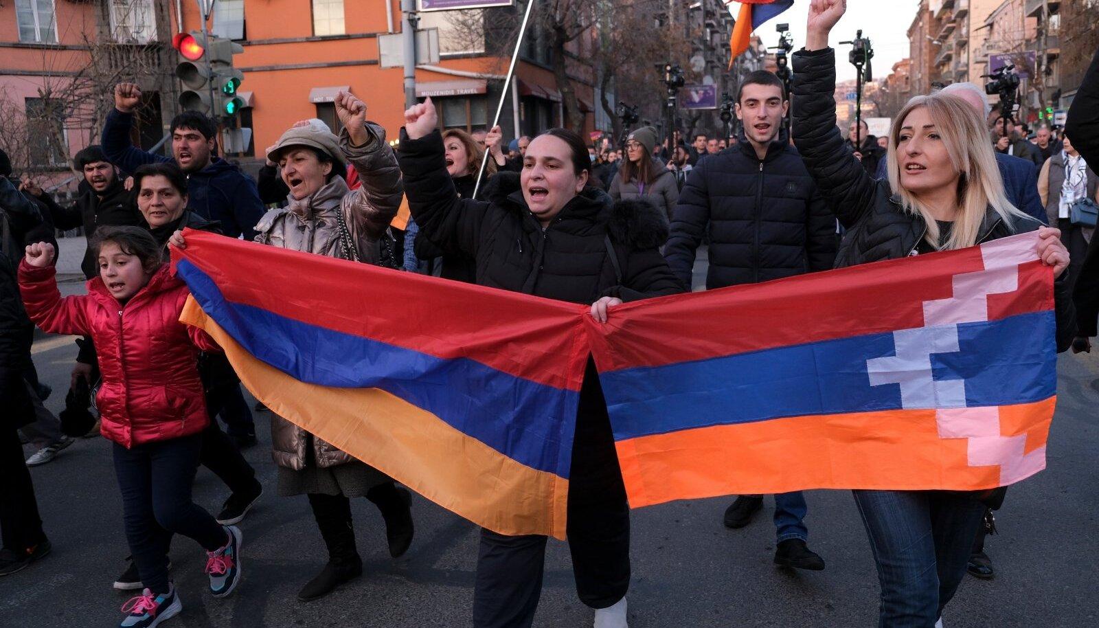 Armeenia peaministri Nikol Pašinjani vastased meeleavaldajad möödunud laupäeval pealinnas Jerevanis