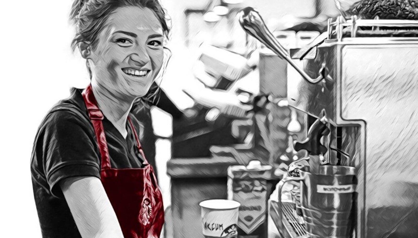 Продавец в петербургском Starbucks