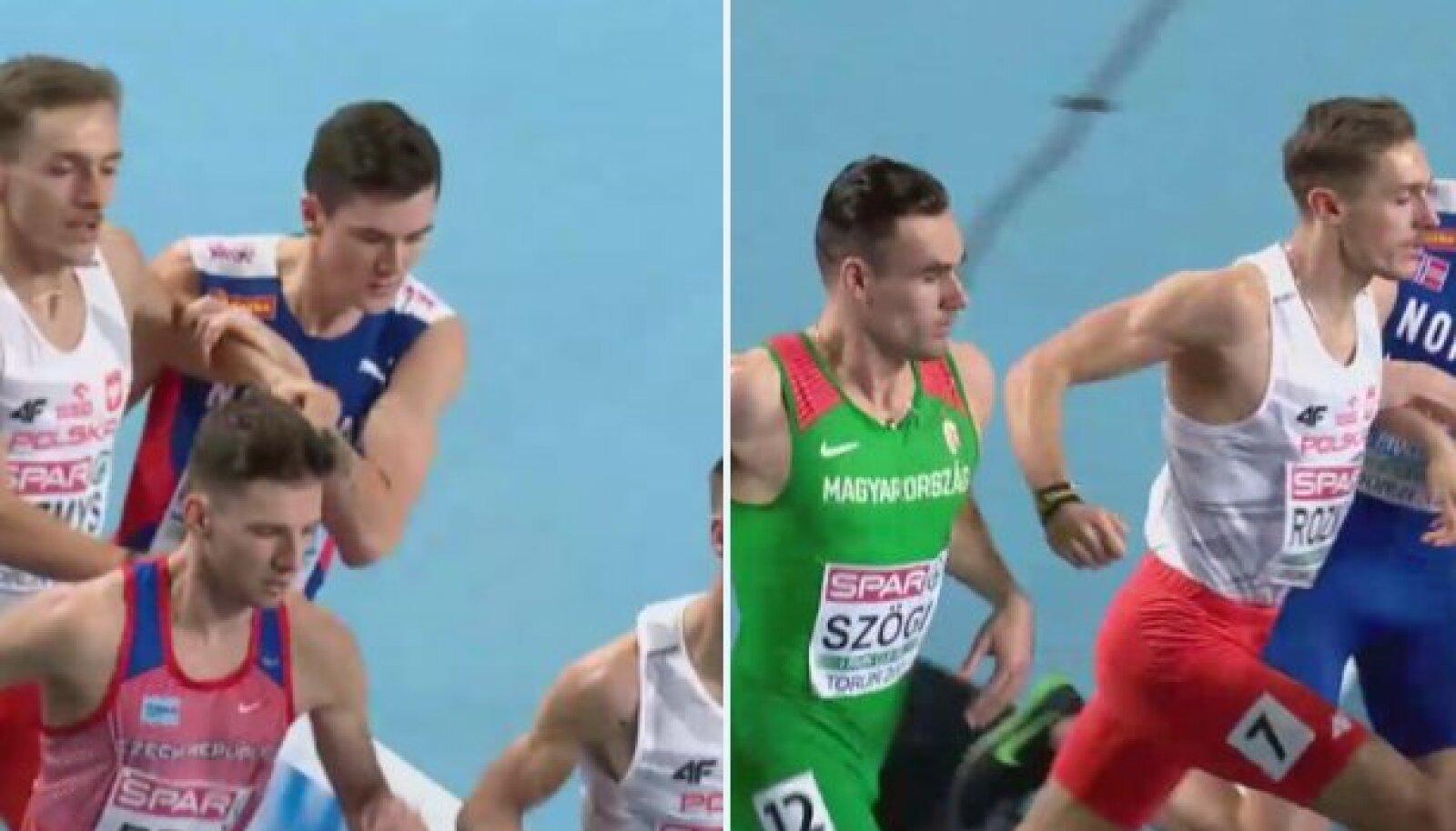 Jakob Ingebrigtseni ja Marcin Lewandowski võitlus.