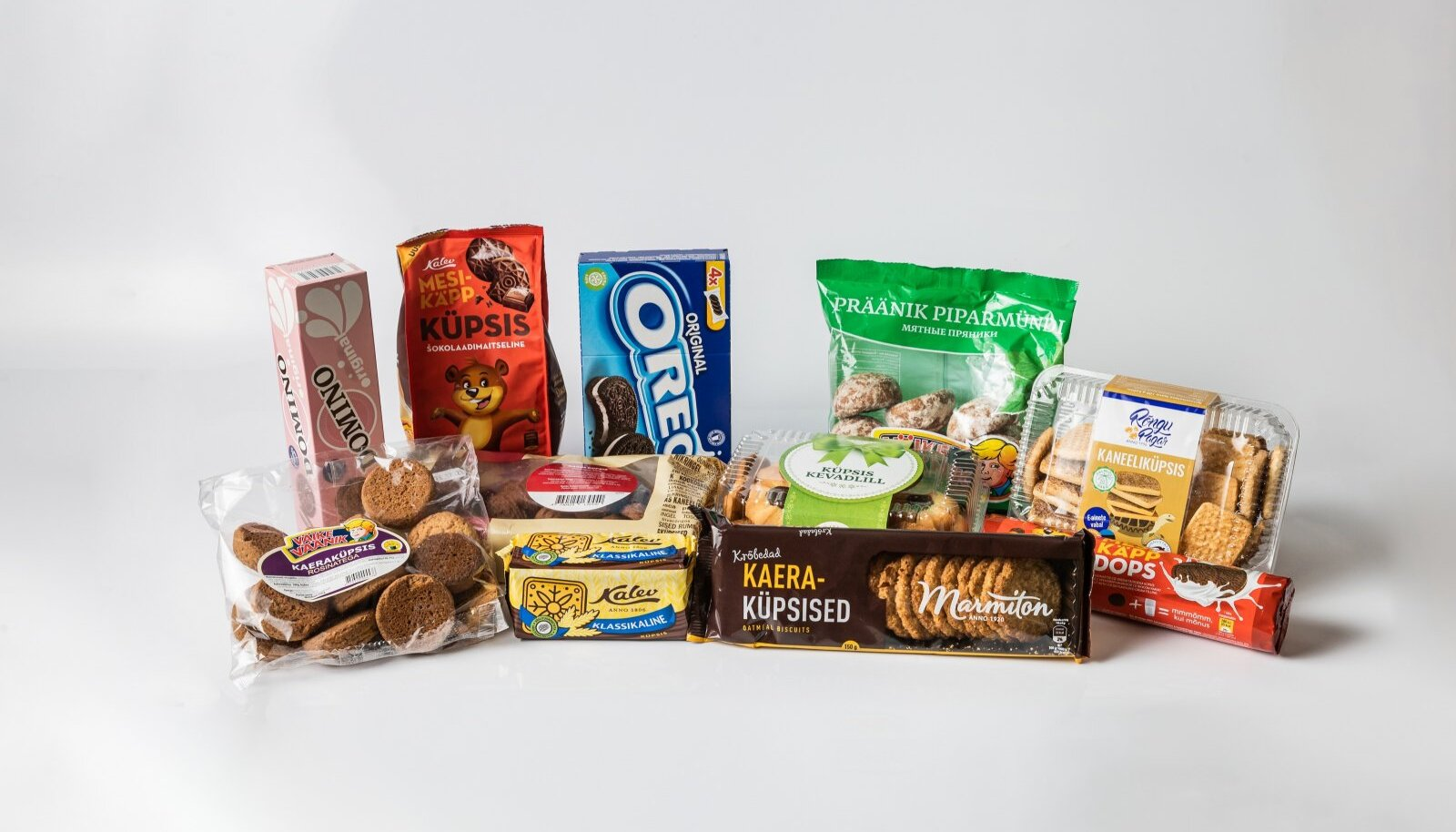 Enamik poes müüdavatest küpsistest on tehtud palmiõliga, siin pildil on sellest vabad vaid kolm toodet.