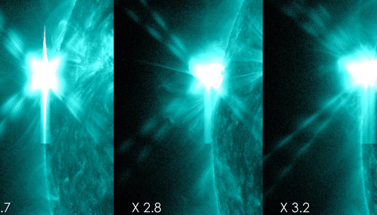 Tänavused tugevaimad päikeseloited. Foto: SDO
