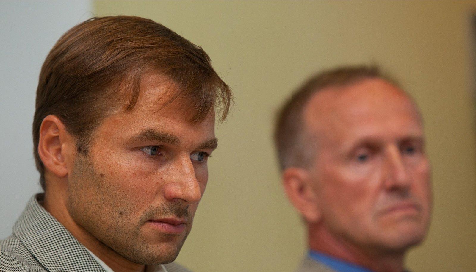 Andrus Veerpalu ja Mati Alaver aastal 2011, kui puhkes dopinguskandaal kahekordse olümpiavõitja ümber.