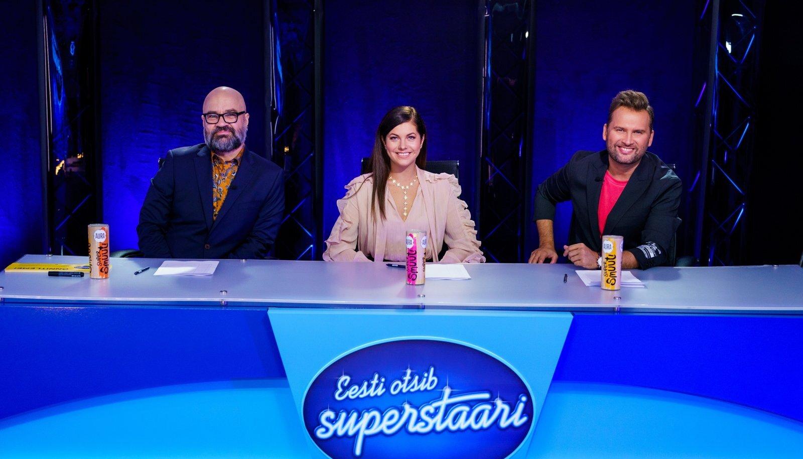 """Sügise suurima teleproduktsiooni """"Eesti otsib superstaari"""" kohtunikud on sel hooajal Mihkel Raud, Birgit Sarrap ja Koit Toome. Saatesari algab TV3-s 12. septembril."""