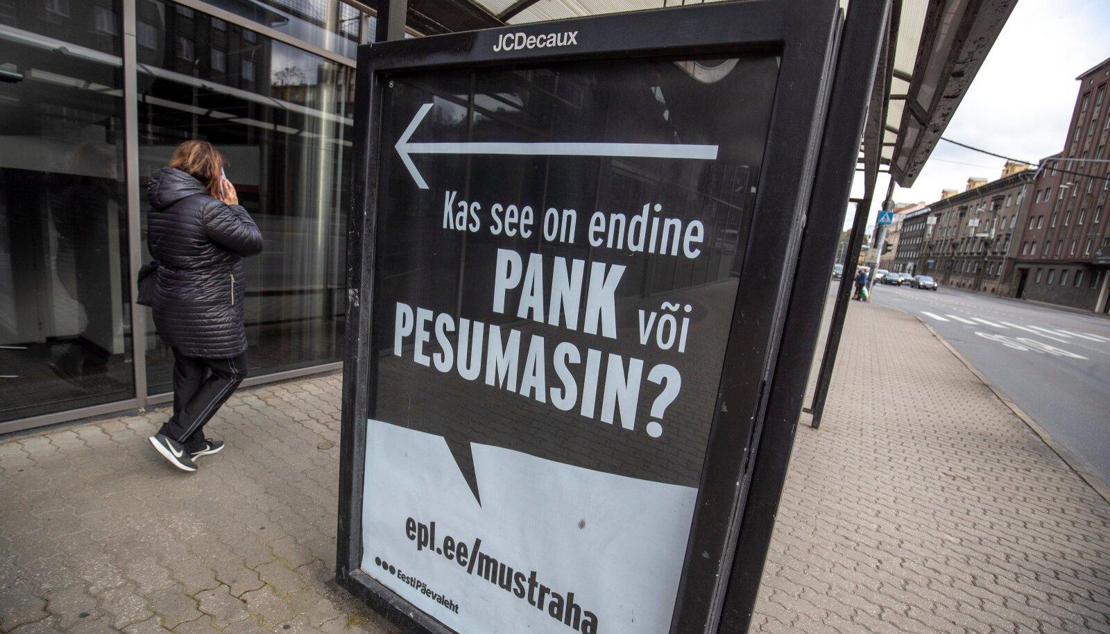 Reklaam endise Danske panga ees 21.09.2020