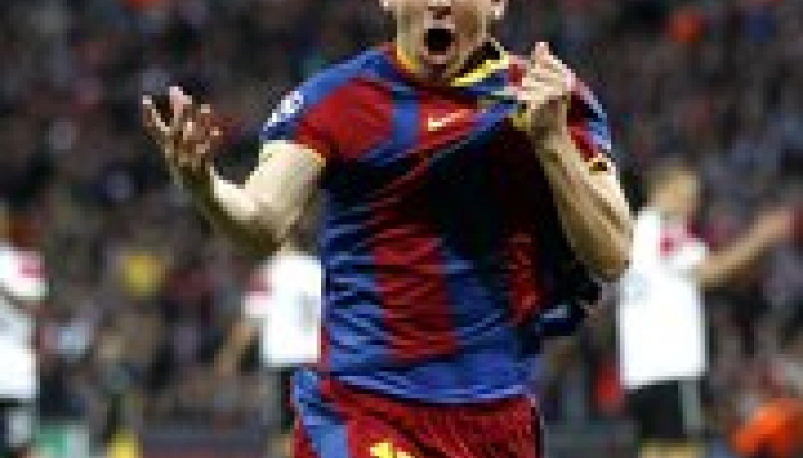 Lionel Messi tähistamas rekordilist väravat Meistrite liiga finaalis, jalgpall