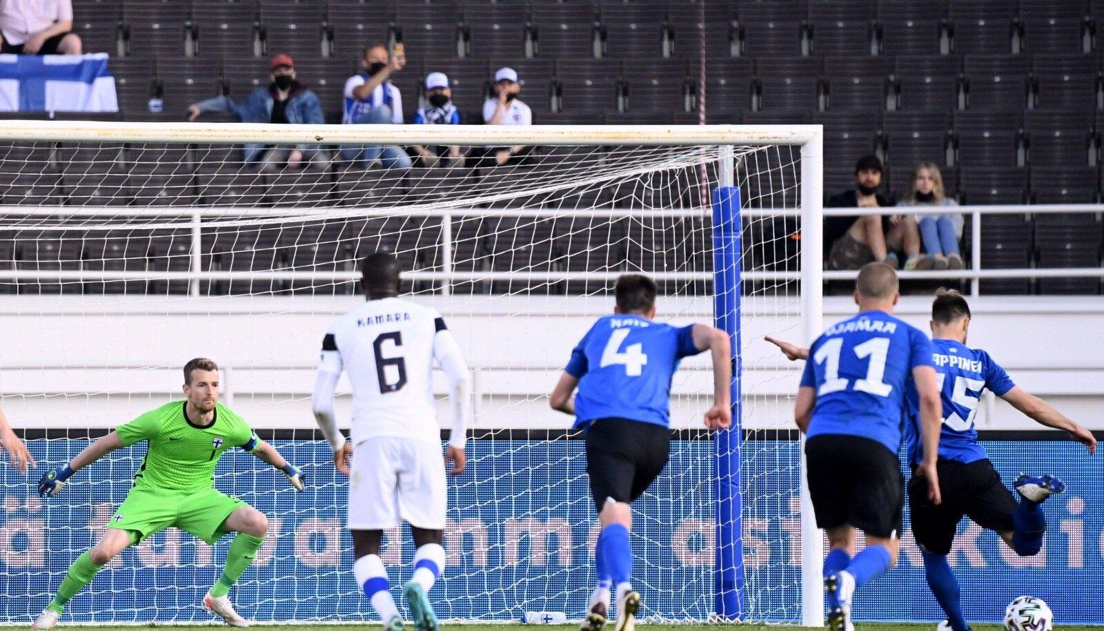Rauno Sappineni täpne penalti tõi Eestile võidu.