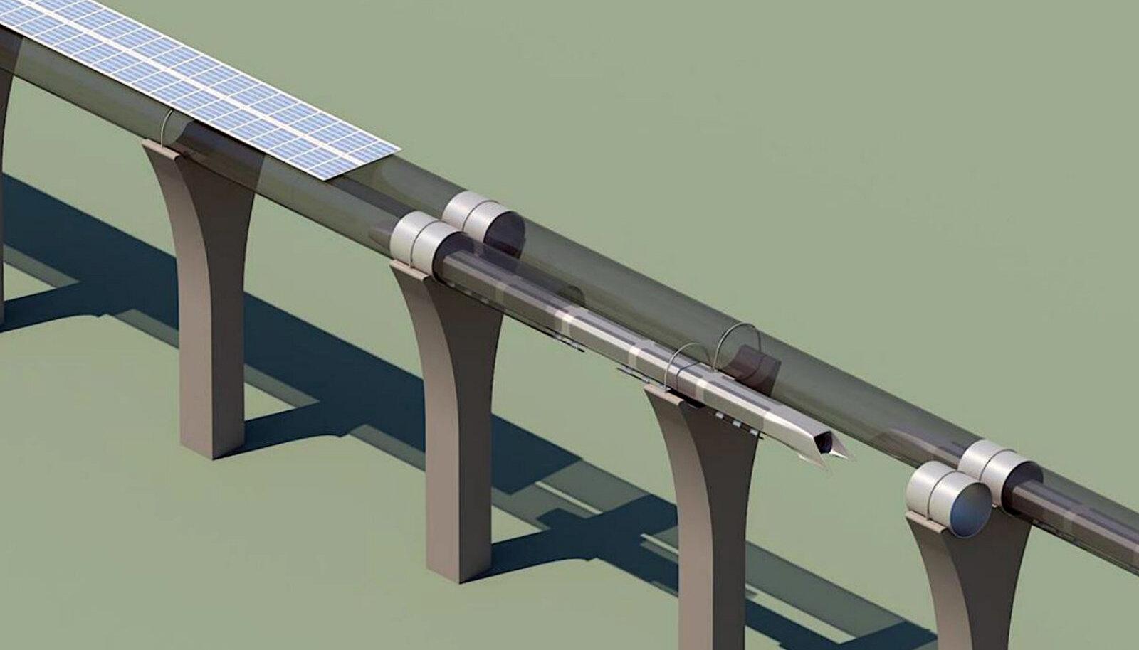 Hyperloopi toru kavand.