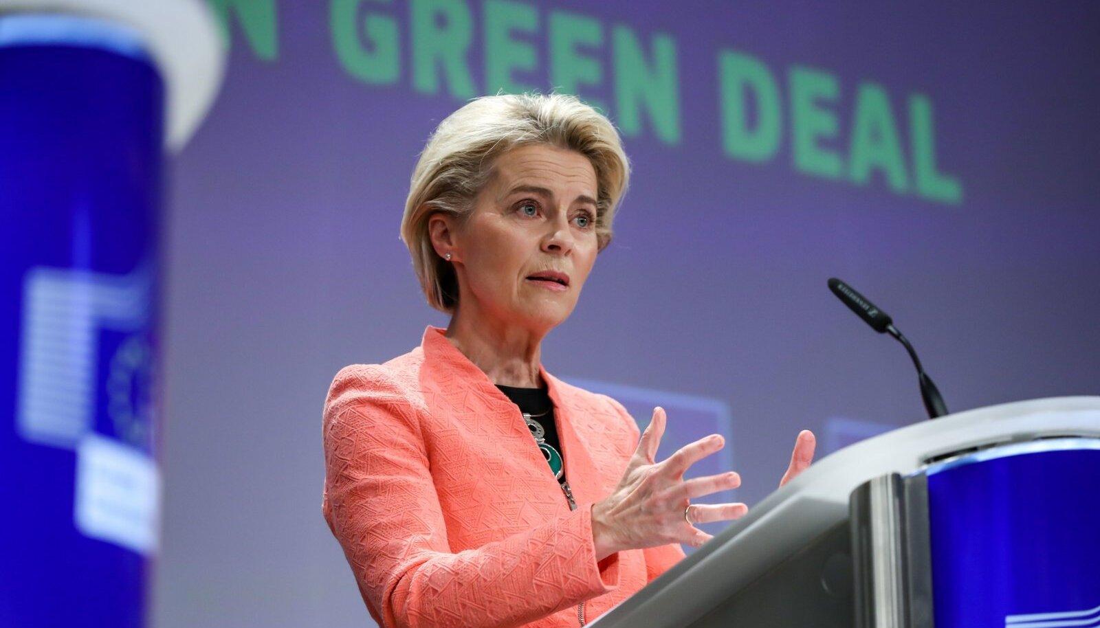 Ursula von der Leyeni sõnul on Eestil väga suur potentsiaal meretuuleparkide rajamiseks ja Eesti saaks kindlasti olulise rolli tulevases vesinikumajanduses.