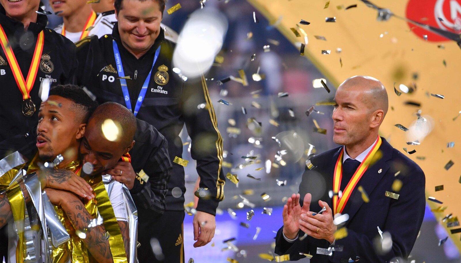Zinedine Zidane karjäär peatreenerina - üheksa finaali, üheksa tiitlit