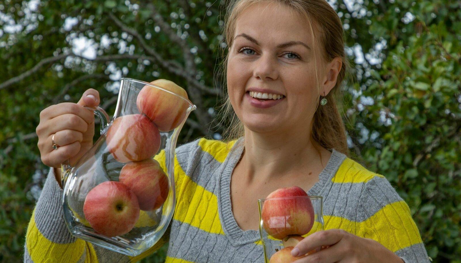 Lagle Heinmaa selgitas doktoritöö käigus välja, missugustest õuntest ja mis pressi abil saab kõige tervislikuma mahla.