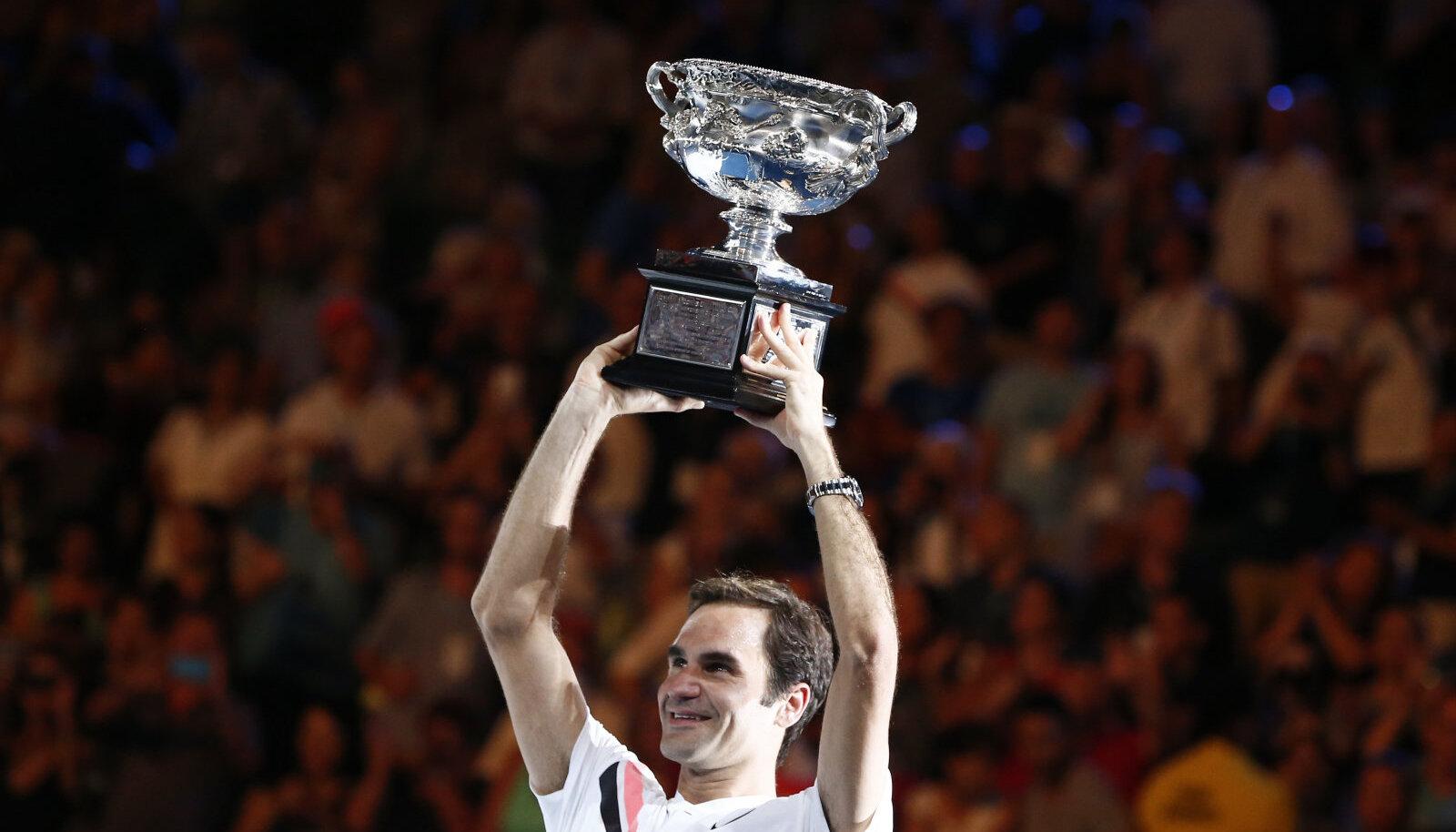 2018. aasta Australian Openi võitja Roger Federer