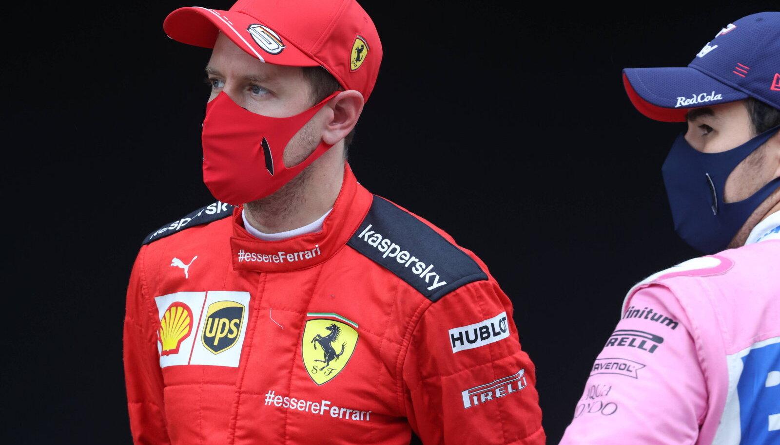 Sebastian Vettel ja Sergio Perez