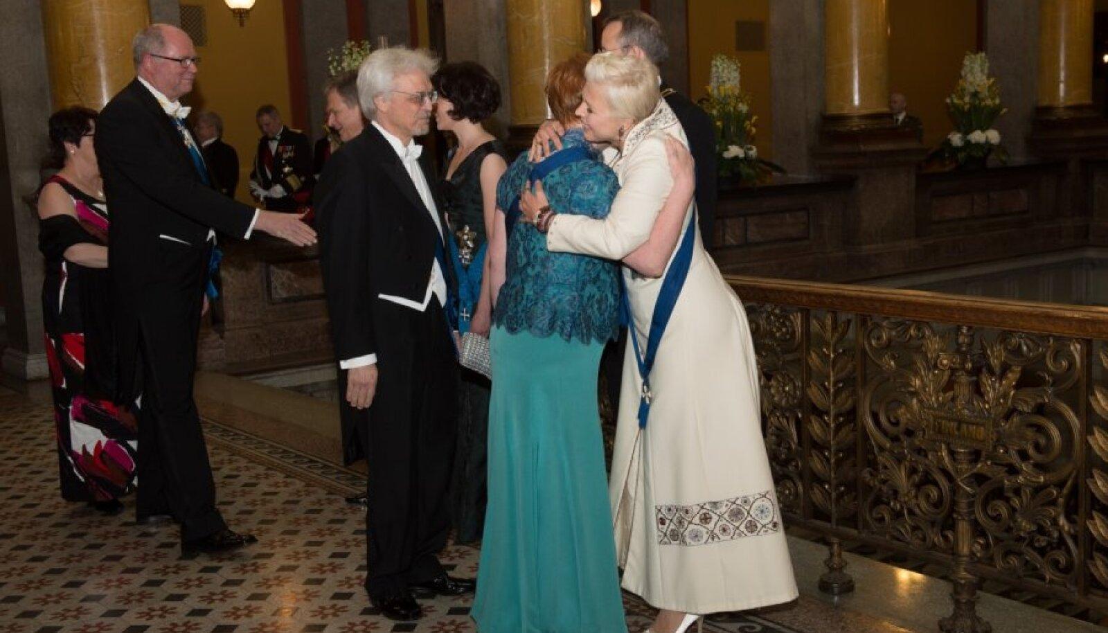 Kätlemine ja riigiõhtusöök Sauli Niinistö kutsel