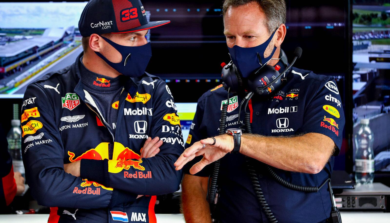 Max Verstappen  ja Christian Horner