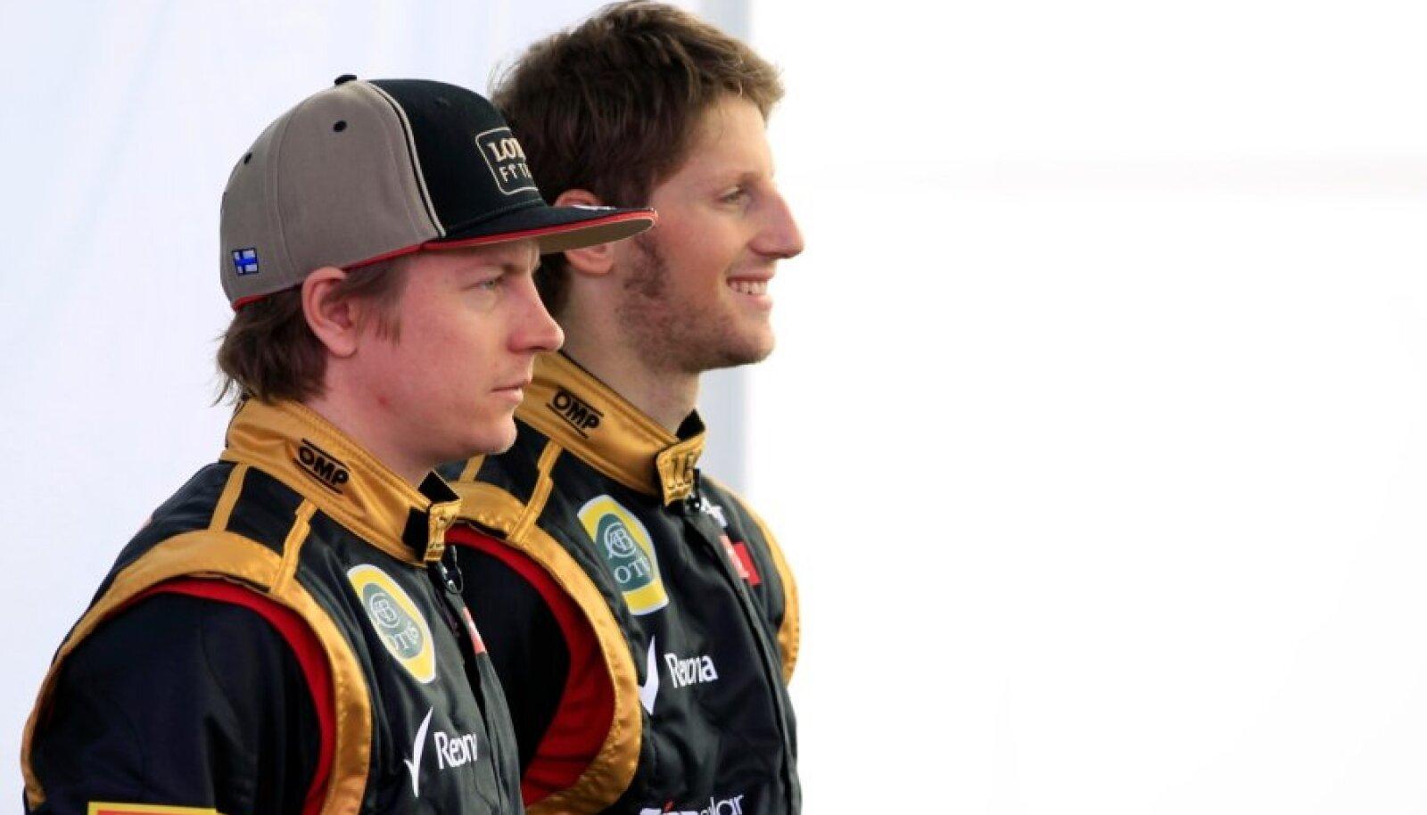 Kimi Räikkönen ja Romain Grosjean.