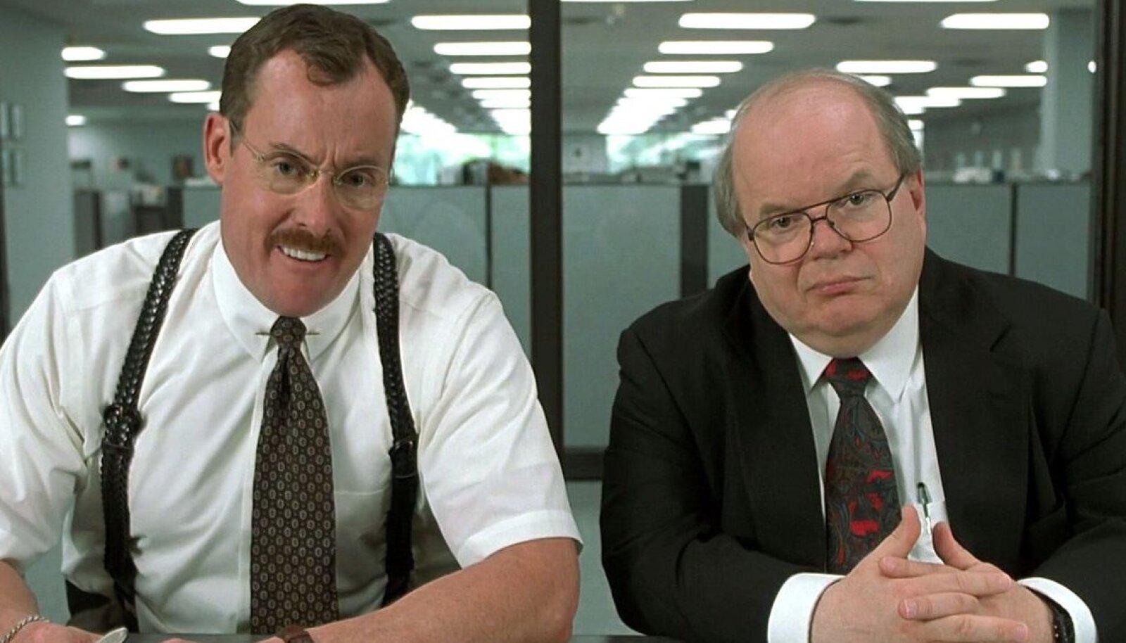 """Illustreerival eesmärgil kaader halva-töökoha-filmide klassikast """"Office Space"""" (1999) / foto: filmi tootja Twentieth Century Fox)"""
