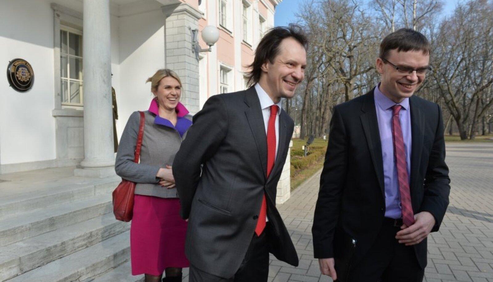 Urve Palo, Indrek Saar ja Sven Mikser