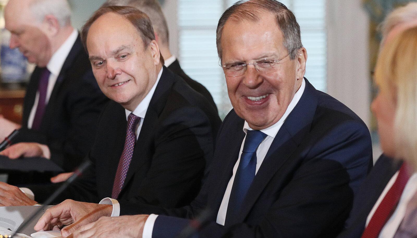 Suursaadik Anatoli Antonov ja välisminister Sergei Lavrov