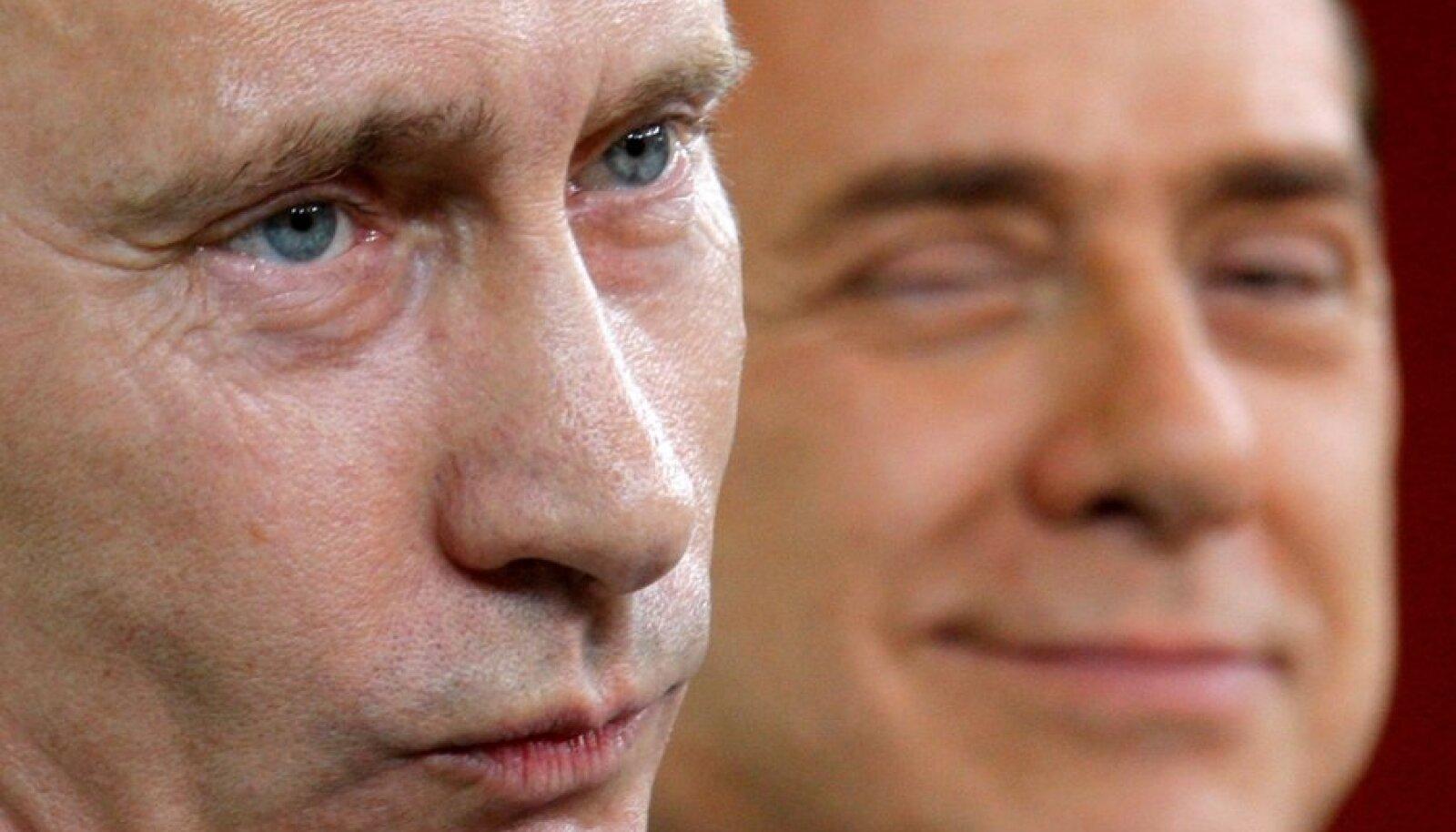 File photo of Berlusconi and Putin in Porto Rotondo