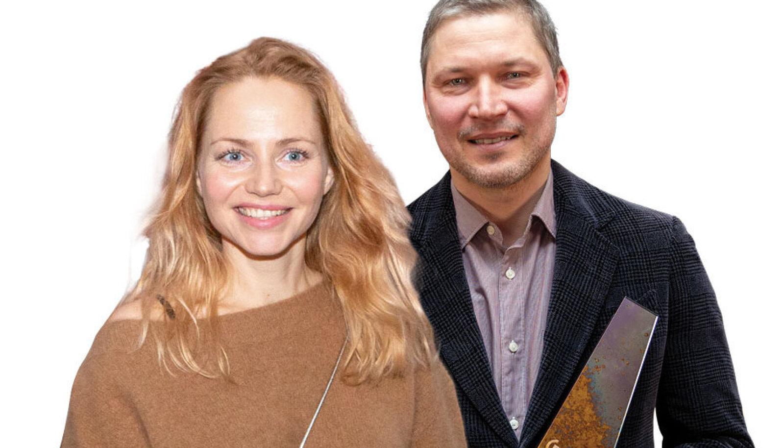 """SIRELITE ÕITSEMISE AEGU armusid näitleja Mirtel Pohla ja kirjanik-stsenarist Martin Algus. Koos tehtud telesari """"Valguses ja varjus"""" esilinastus Elisa voogedastusplatvormil oktoobris."""