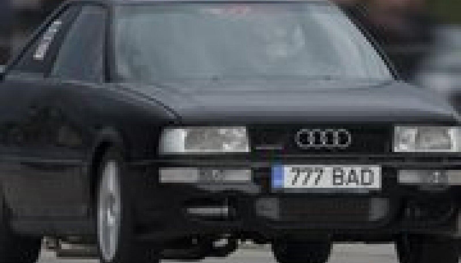 Marje Salumets oma Audis. Foto: Marek Potti