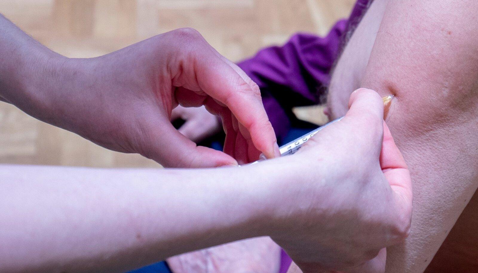 Kaja keskuses vaktsineeriti inimesi 13.03.2021