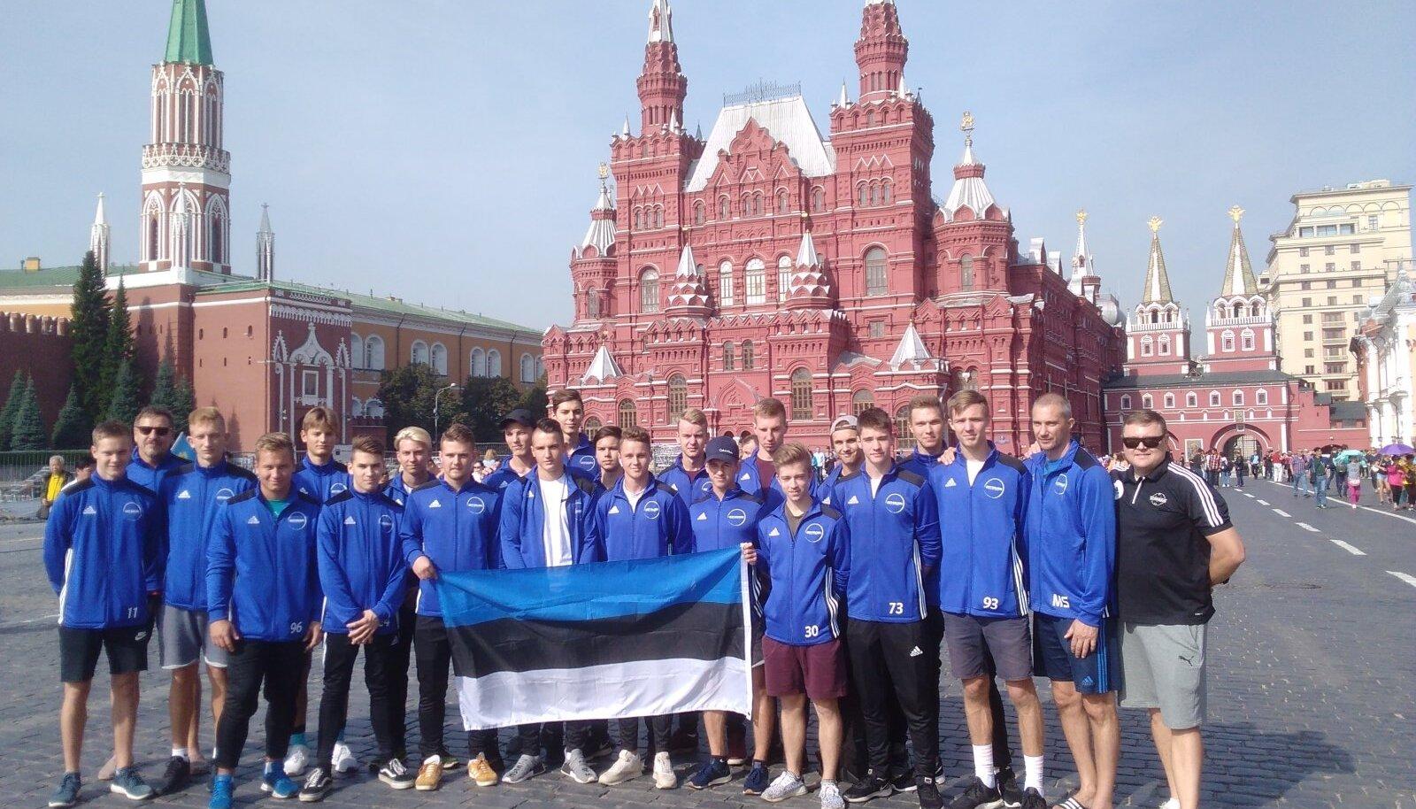 Fotomeenutus 2018 Moskva MM-valikturniirillt, kus Eesti 6:6 viigi tõttu võõrustajatega väravatevahega edasi ei pääsenud.