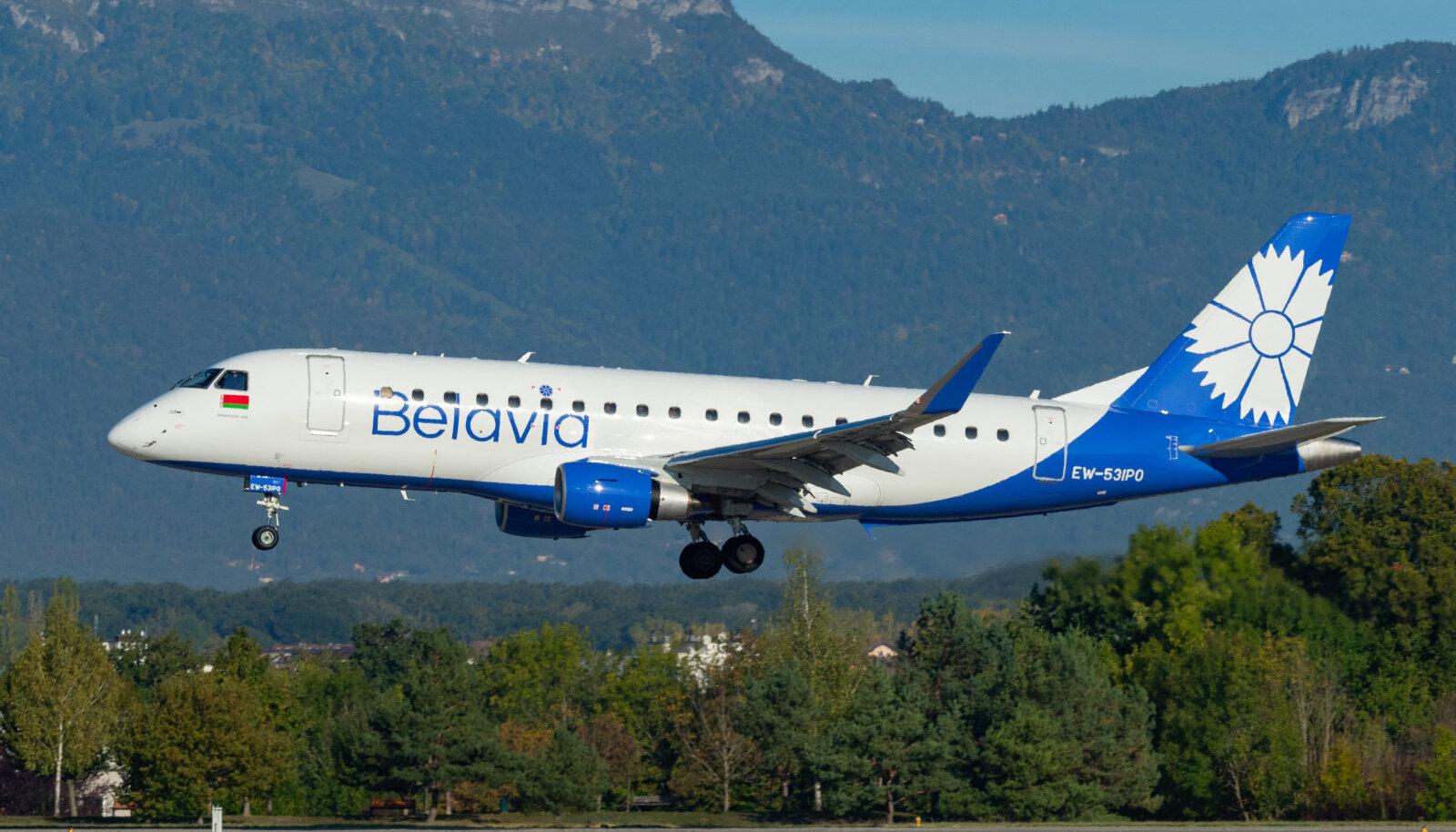 EW-531PO, Tallinna poole suunduv Belavia lennuk varasemal lennul