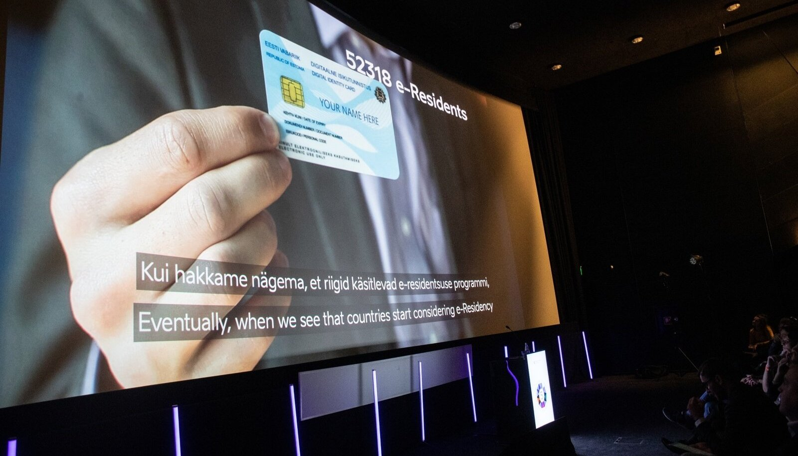 Eesti e-residentsuse viienda aastapäeva tähistamise vastuvõtt kinos Artis
