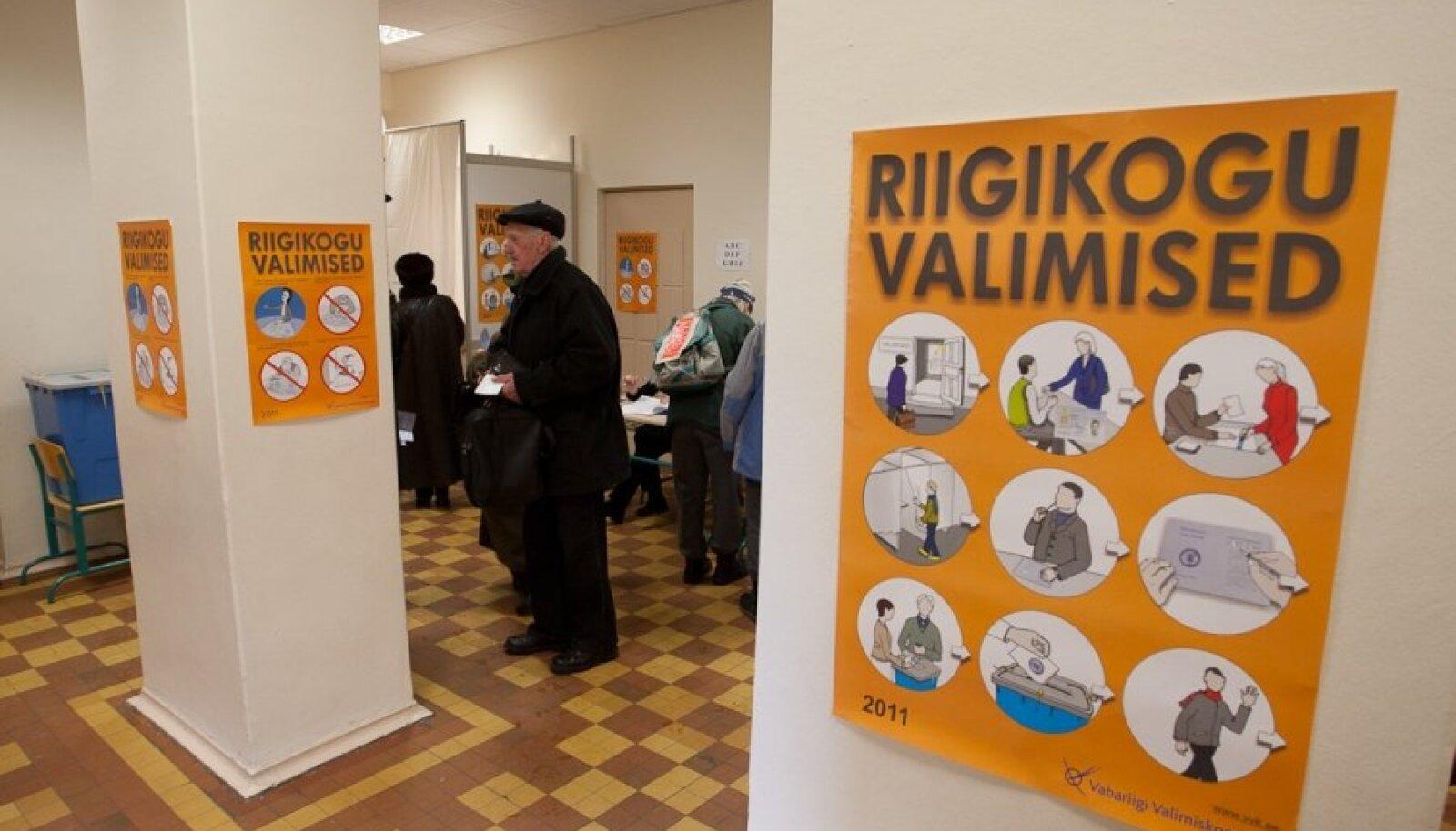 2011. aasta riigikogu valimispäev Jakob Westholmi gümnaasiumis