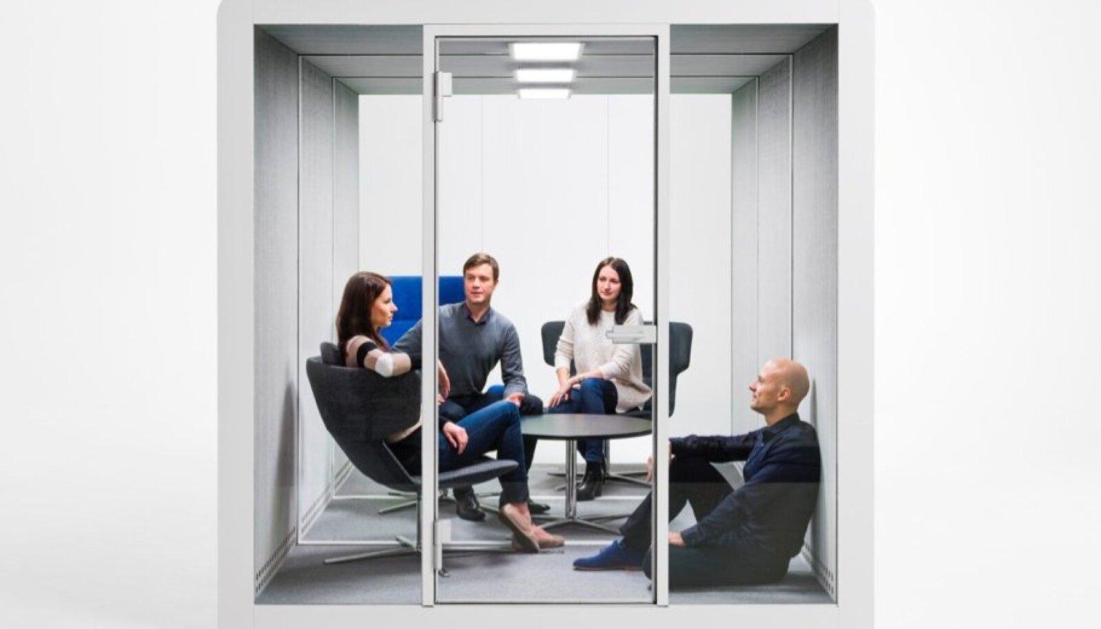 """Walleniumi kõne- ja koosolekuteruumiboks """"Silen Space""""."""