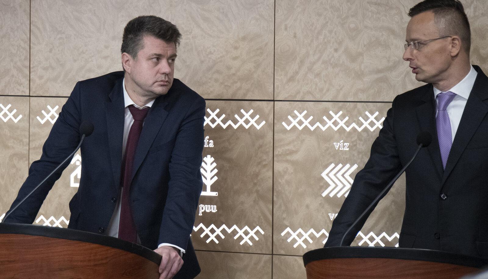Urmas Reinsalu ja Péter Szijjártó