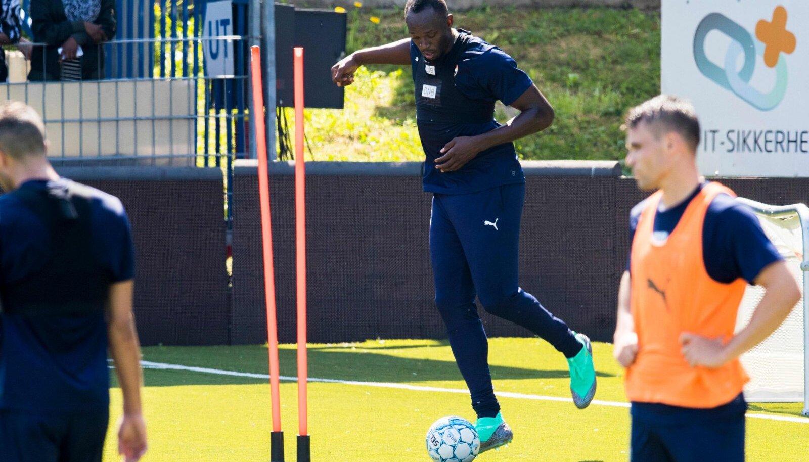Usain Bolt  Norra klubi treeningul