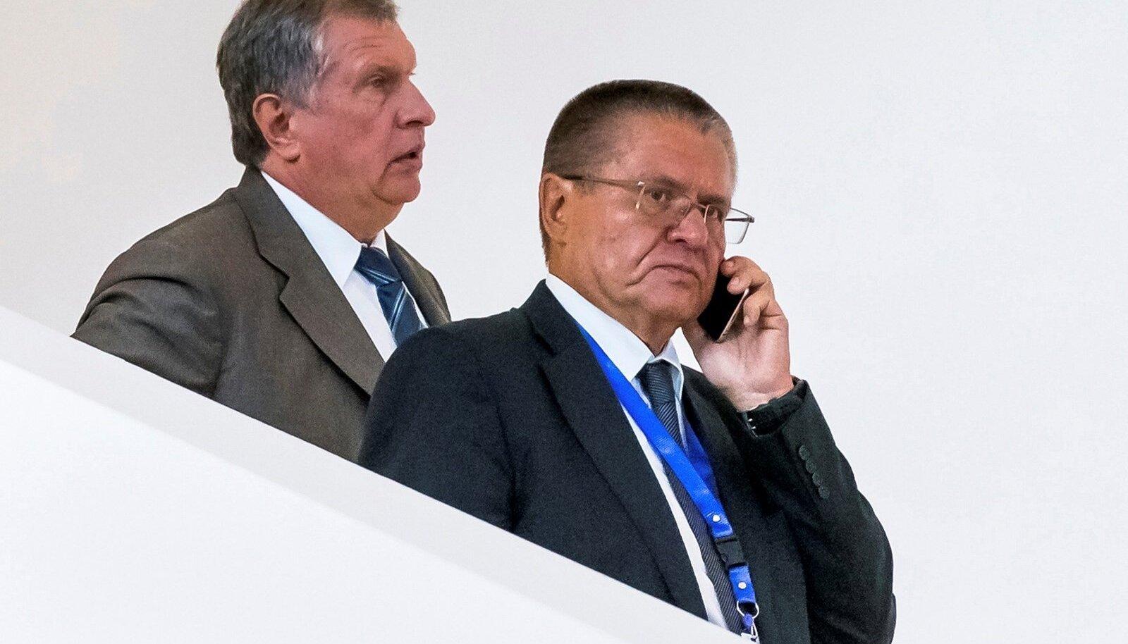 Igor Setšin ja Aleksei Uljukajev