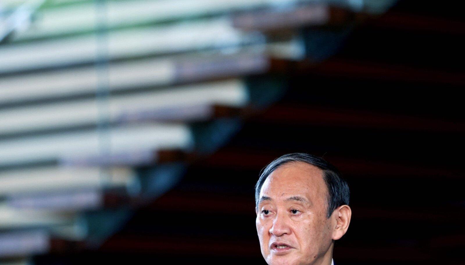 Yoshihide Suga toetus oli tagasiastumisteateks kahanenud alla 30%