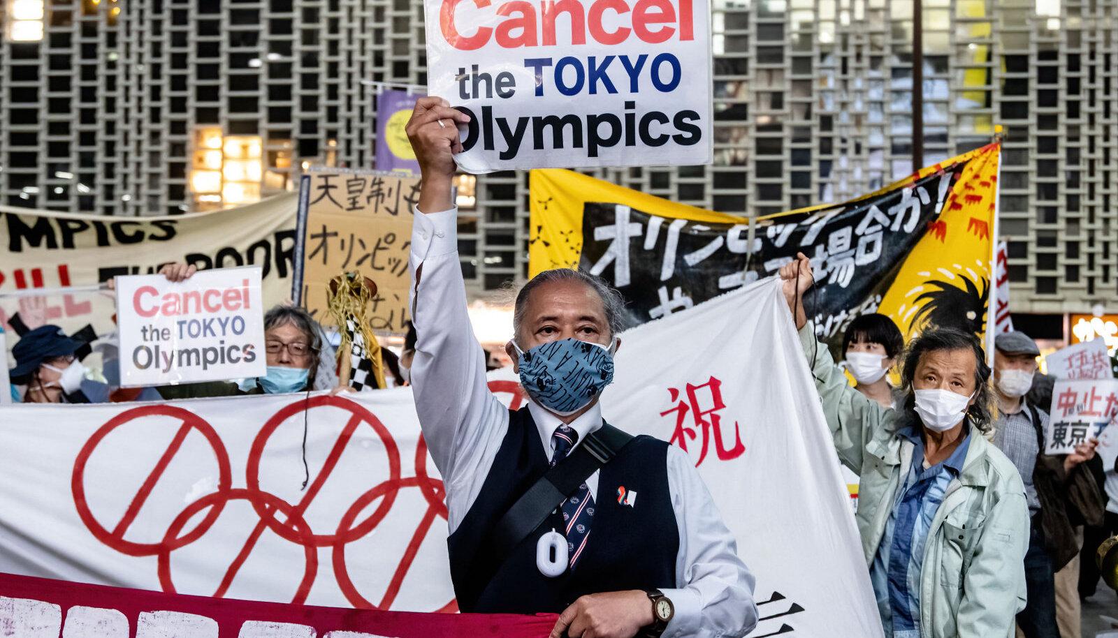 Olümpiavastased protestijad Tokyos